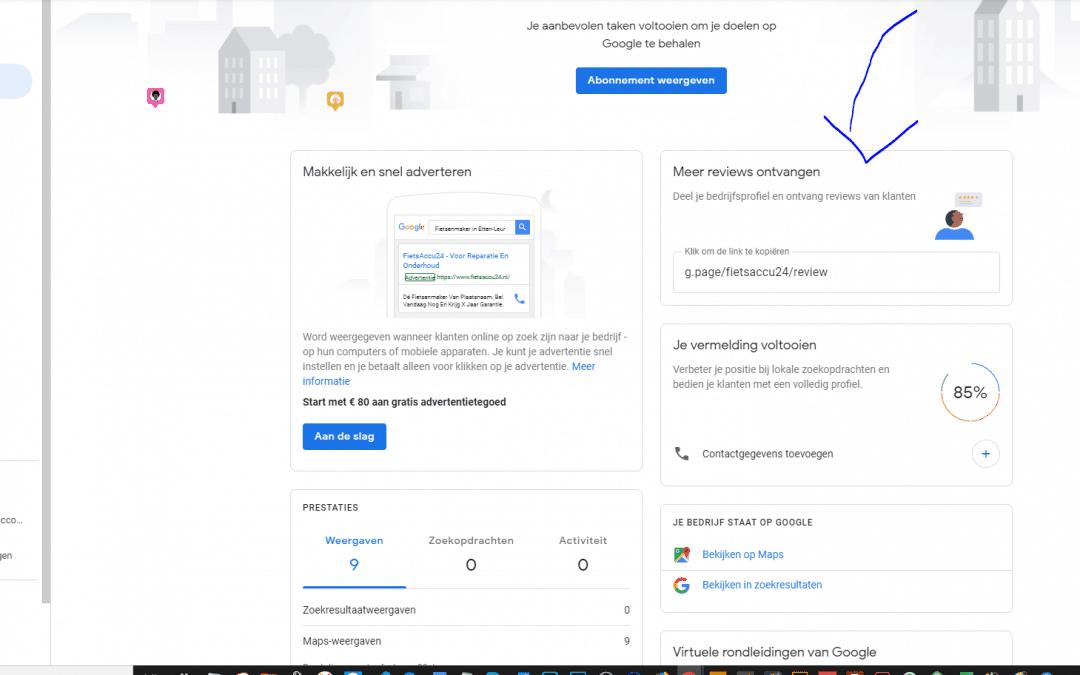 Hoe maak je een link die je naar klanten kan sturen om een Google review te schrijven?